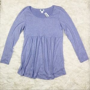 NWT Old Navy Soft Purple Maternity Top M